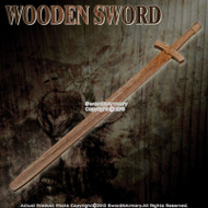 "38"" Wooden Medieval Waster Bastard Sword Practice Training Prop"