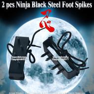 2 pcs Ninja Climbing Gear Black Steel Foot Spikes Claw Shinobi Shoe Hooks