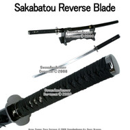 Anime Kensin Reverse Blade Japanese Sakabatou Sword with Stand