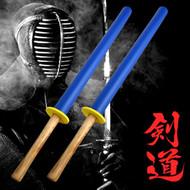 Set of 2 Foam Padded Training Practice Swords Shinai Bokken