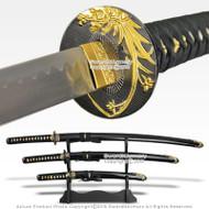 Japanese Orchid Bushido Last Samurai Sword Set Katana Wakizashi Tanto w/ Stand