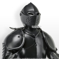Stainless Steel Mini Duke of Burgundy Suit of Armor Medieval Knight w/ Sword BK