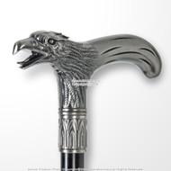 """35"""" Eagle Head T Shape Handle Metal Steel Shaft Gentlemen Walking Cane Stick"""
