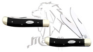 Mastiff Bull Horn Handle Double Blade Stainless Steel Pocket Knife