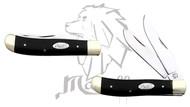 Mastiff Bull Horn Handle Double Blade Stainless Steel Pocket Knife