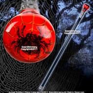 """35 """" Plexiglass Head Spider Gentleman Walking Stick Steel Cane"""