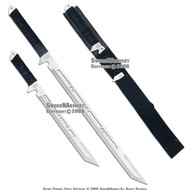 Dual Full Tang Ninja Warrior Double Swords With Strap