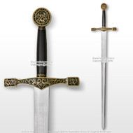 "44"" Foam Excalibur  Knights Crusader Long Sword LARP Renaissance Costume Cosplay"