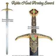 """40"""" Robin Hood Locksley Medieval Arming Sword With Scabbard"""