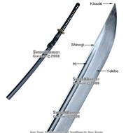 Damascus Steel Dragon Late Edo Period Katana Sword