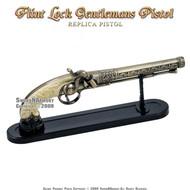 Flintlock Duel Pistol Spanish Cavalier Replica With Stand