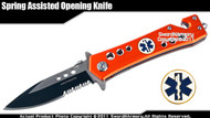 Assisted Opening Rescue Knife Paramedic Orange Serrated