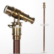 "38"" Handmade Sheesham Wood Gentleman Walking Cane Solid Brass Telescope Handle"