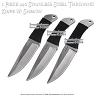 "3 Pcs 6.25"" Steel Throwing Knives Set With Pouch"