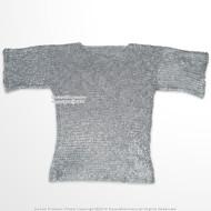 Medieval Aluminum Chainmail Shirt Haubergeon Flat Ring Round Riveted LARP