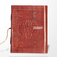 Medieval Genuine Leather Journal Diary Parchment Paper Brown Celtic Circle Theme