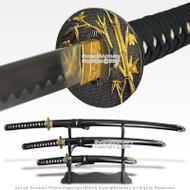 Japanese Bushido Bamboo Last Samurai Sword Set Katana Wakizashi Tanto w/ Stand