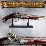 Naval Pirate Gun FlintLock Blunderbuss Movie Replica Pistol Cosplay Costume