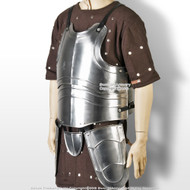 Large Medieval 20G Steel Breast Plate Body Armor w/ Tassets Fluted Cuirass LARP