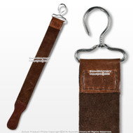 "20"" Real Leather Barber  Straight Razor Sharpening Strop Belt Blade Polish Strap"
