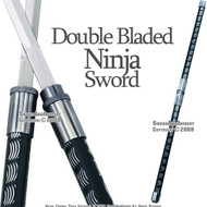 2 in 1 Black Double Bladed Ninja Sword Staff Spear