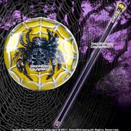 """35 """" Spider Fantasy Walking Stick Gentleman Steel Cane"""