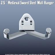 "2.5 "" Medieval Sword Steel Wall Hanger"