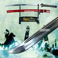 Musashi Handmade Folded Steel Damascus Katana Samurai Sword Differential Harden
