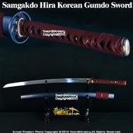 """Slightly Sharp"" Munetoshi Yuki Samgakdo Hira Korean Gumdo Sword Mat Cutter"