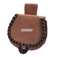 Brown Genuine Leather Belt Pouch for Medieval Renaissance Fair SCA LARP