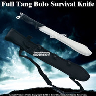 Full Tang Bolo Survival Machete Sword Knife w/ Sheath
