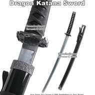 Black Classic Japanese Dragon Samurai Katana Sword