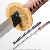 SparkFoam Fantasy Anime Samurai Katana Foam Toy Sword with Scabbard LARP Brown