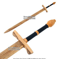 "45 "" Medieval Practice Wooden Waster Great Sword Prop 1"