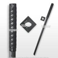 "33.5"" Ninja Shinobi Polypropylene Training Sword Ninjato with Black Square Guard"