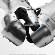 Functional Medieval Reenactment SCA Milanese Gauntlets 16G Steel Mitten LARP