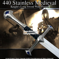 "41"" Medieval Crusader Knights Long Sword with Plaque"
