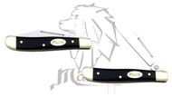 Mastiff Black Bull Horn Handle Stainless Steel Blade Pocket Folder Knife