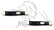 Mastiff Black Bull Horn Handle Stainless Steel Blade Pocket Folder Knife