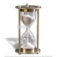 "3.5"" Brass Handmade 1 Min Sand Timer Clock Nautical Hourglass Time Decor Gift"