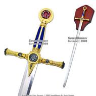 """39"""" Fraternal Masonic Sword Templar Knight Freemasonry 1"""