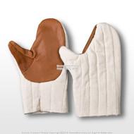 Ecru Medieval Armor Padded Heavy Duty Cotton Mittens Gauntlet Glove SCA LARP