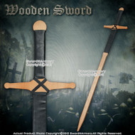 "48"" Wooden Claymore Medieval Sword Plywood Design for Cosplay Reenactment"
