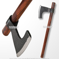 "30"" Steel Viking Warrior Battle Bearded Francisca Axe Combat Hatchet SCA LARP"