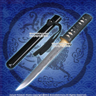 Handmade Carbon Steel Tanto Sword Samurai Katana Full Tang Blade Dragon Engraved