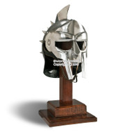 Wearable Gladiator Maximus Roman Spiked Helmet 18 Gauge Steel w/ Leather Linner