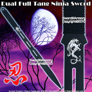 Ninja Short Spear Large Kunai Swords Machete w/ Sheath