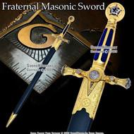 "29"" Fraternal Masonic Sword Blue Lodge Fellow Craftsman Templar Knight Freemasonry"