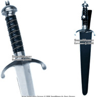"17"" Medieval Knight Sword Vendetta Dagger with Sheath"