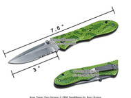 "8"" Pocket Folding Knife With Liner Lock And Metal Handle"